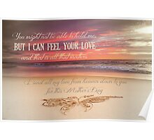 Mother's Day - Card From a Baby/Child In Heaven Poster