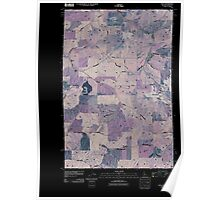 USGS Topo Map Indiana ID Viola 20110406 TM Inverted Poster