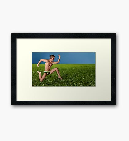 Too Fast for Mother Nature Framed Print