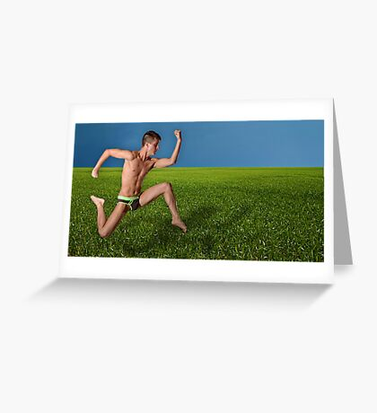 Too Fast for Mother Nature Greeting Card