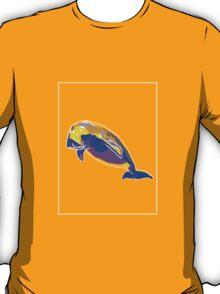 Dugong Yellow Blue E T-Shirt