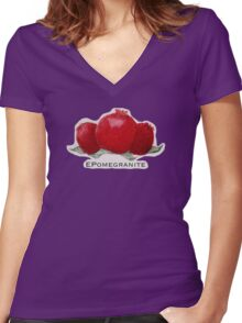 The Pomegranate Collection Women's Fitted V-Neck T-Shirt