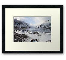 Athabasca Glacier, Jasper, Canada Framed Print