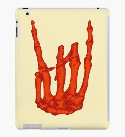 Orange Rock On Skeleton Hand iPad Case/Skin