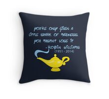 Robin Williams quote Throw Pillow