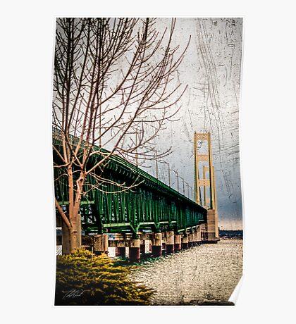 Mackinac Bridge card Poster