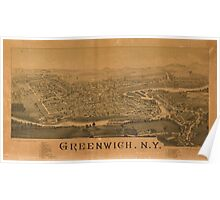 Panoramic Maps Greenwich NY Poster