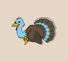 Thanksgiving Turkey with Light Blue Feathers Unisex T-Shirt