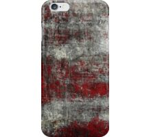 Scratched Metal - Red iPhone Case/Skin