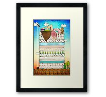 Princess Peach and the Pea Framed Print