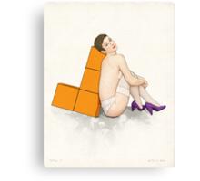 Tetris no. 1 Canvas Print