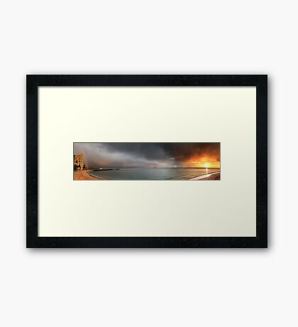Panoramic View: Fort DeRussy Beach Framed Print