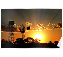"""Outback Sunset"" Poster"