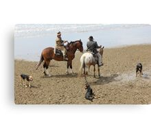 Drovers and dogs Canvas Print