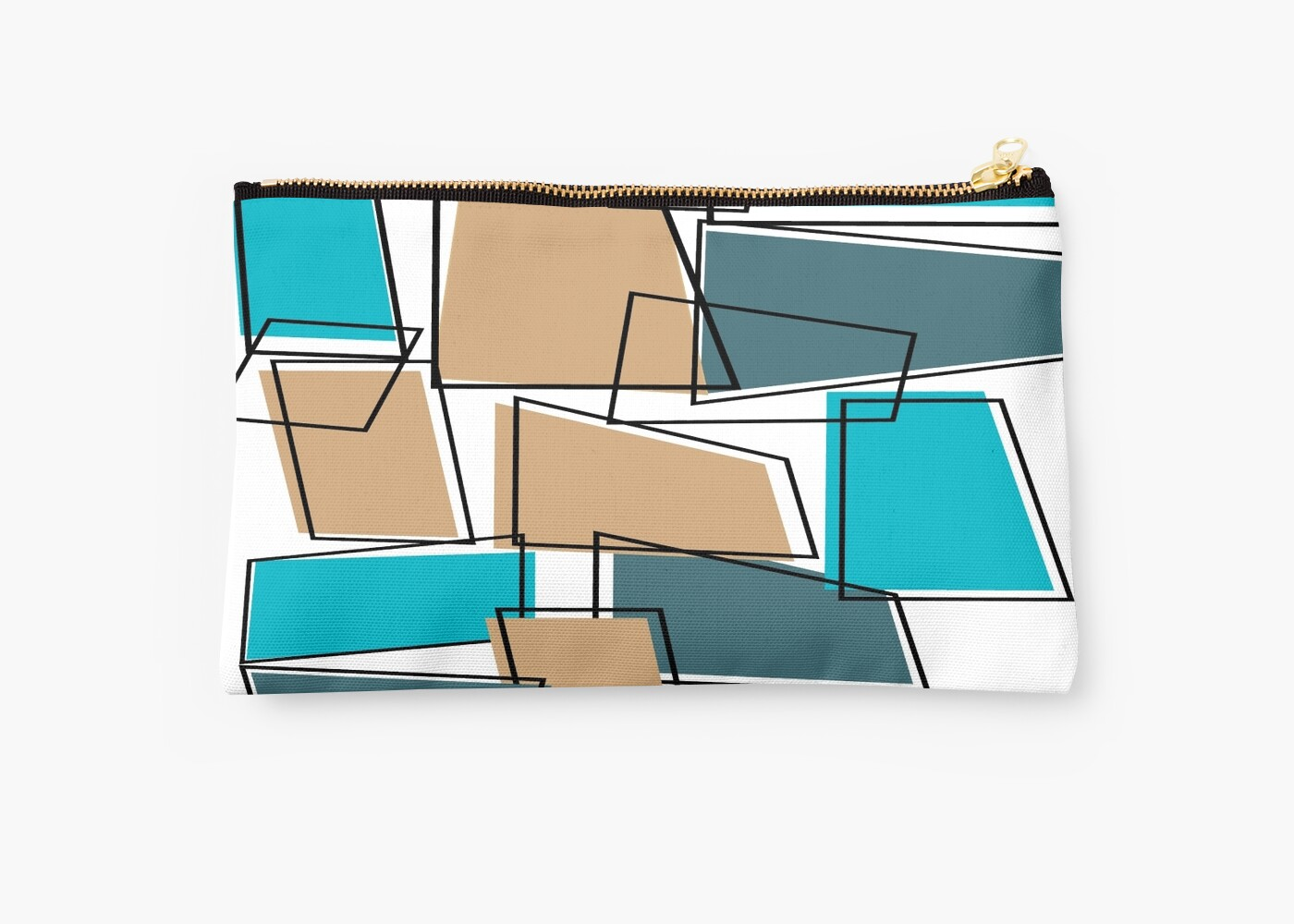Mid Century Modern Atomic Abstract Studio Pouches By