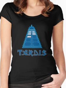 Iron Tardis mk2 Women's Fitted Scoop T-Shirt