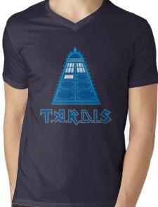 Iron Tardis mk2 Mens V-Neck T-Shirt