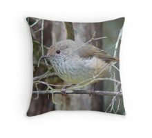 Tasmanian Thornbill today at the pond Throw Pillow