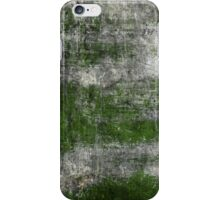 Scratched Metal - Green iPhone Case/Skin