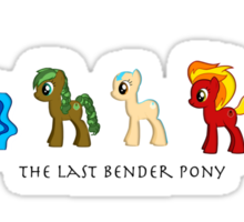 The Last Bender Pony Sticker