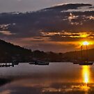 Boats in the sunset by George Petrovsky