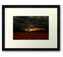 Rain Of Light - Layered up! Framed Print