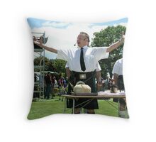 Addressing the Haggis Throw Pillow