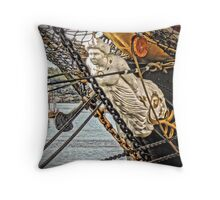 And At The Bows An Image Stood Throw Pillow