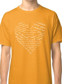 Quotes of the Heart - Amy/Rory (White) Classic T-Shirt