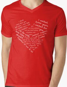 Quotes of the Heart - Amy/Rory (White) Mens V-Neck T-Shirt