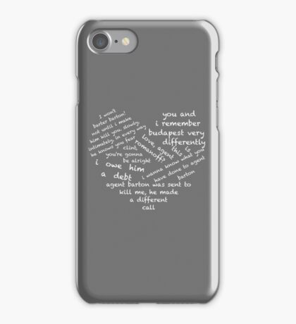 Quotes of the Heart - Clintasha (White) iPhone Case/Skin