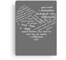 Quotes of the Heart - Clintasha (White) Canvas Print