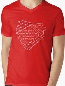 Quotes of the Heart - Destiel (White) Mens V-Neck T-Shirt