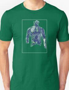 Man Green Blue B T-Shirt