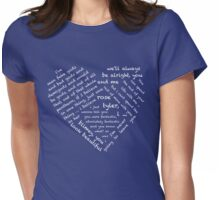 Quotes of the Heart - Doctor/Rose (White) Womens Fitted T-Shirt