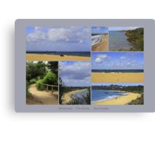 Mentone collage - Victoria - Australia Canvas Print