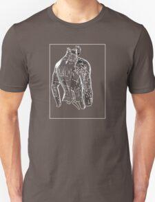Man Grey White E T-Shirt