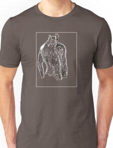 Man Grey White E Unisex T-Shirt