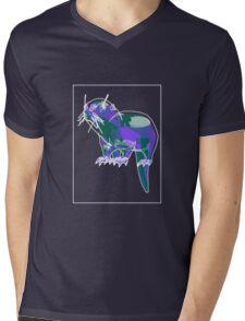 Otter Mauve Green E Mens V-Neck T-Shirt