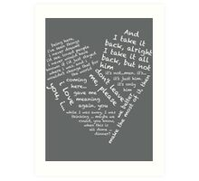 Quotes of the Heart - Janto (White) Art Print