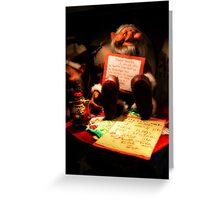 Dear Santa Letter Greeting Card