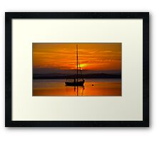 Nautical Sunset. Framed Print