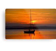 Nautical Sunset. Metal Print