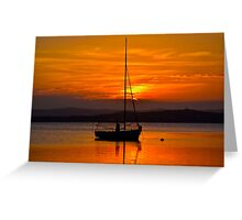Nautical Sunset. Greeting Card
