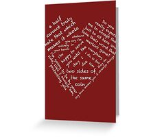 Quotes of the Heart - Merthur (White) Greeting Card