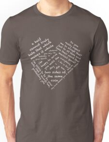 Quotes of the Heart - Merthur (White) Unisex T-Shirt