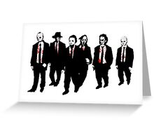 Reservoir Horror Icons Greeting Card