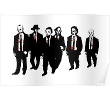 Reservoir Horror Icons Poster