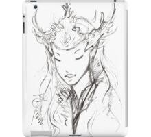 Fairy Queen Monochrome  iPad Case/Skin