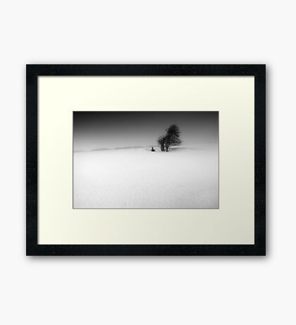Hollow Victory BW Framed Print